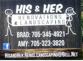 Logo for His & Her Renovation & Landscaping